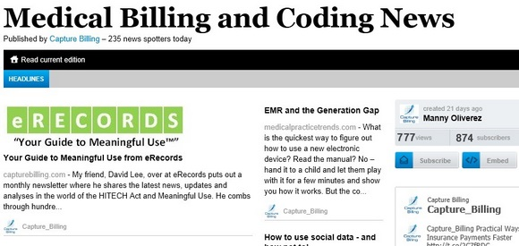 Medical Billing and Coding News Online Newspaper by Capture Billing