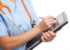 Doctor with EHR Tablet