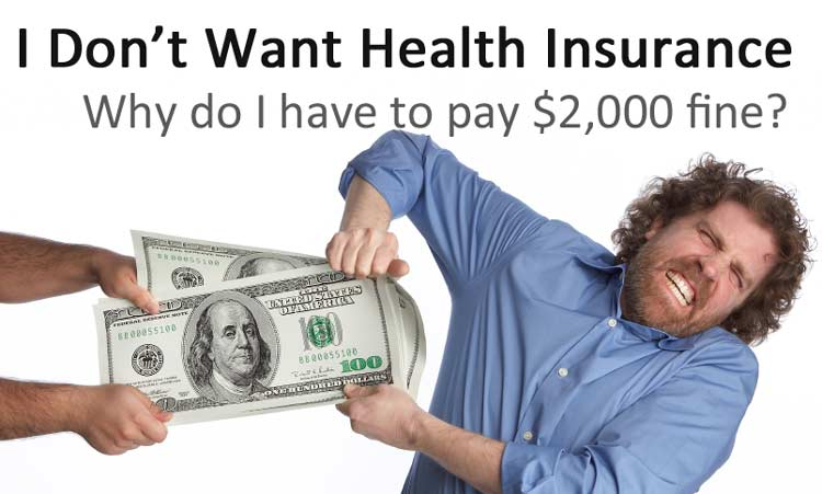 What is the fee for not having health insurance?