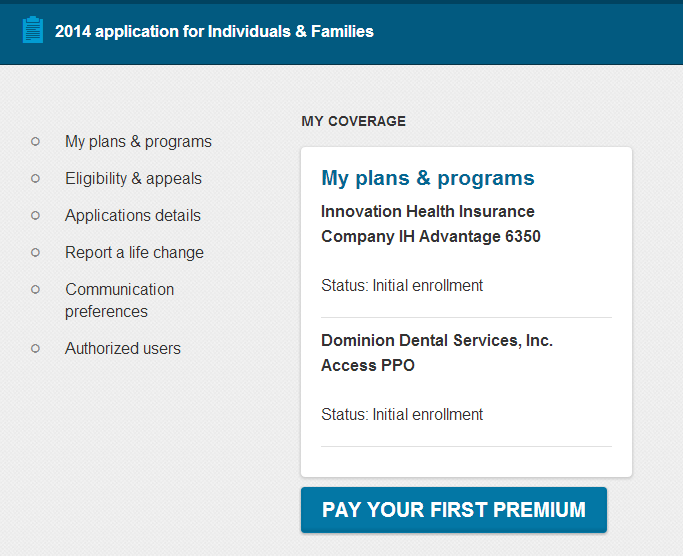 Obamacare Plans and Programs