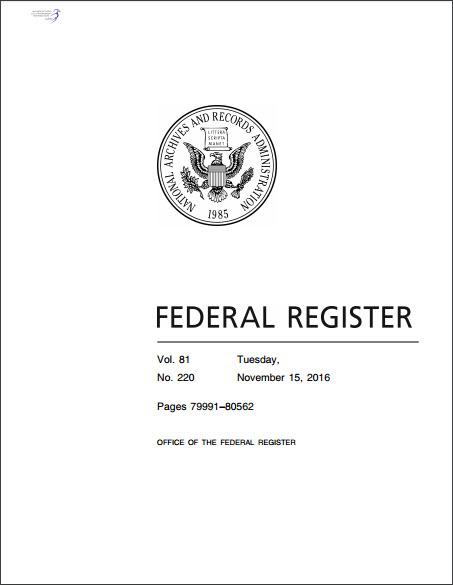 Federal Register November 15, 2016